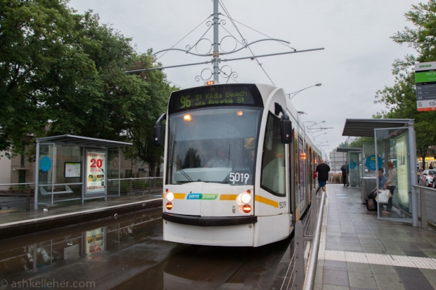 Its funny to get into a tram when you have never done it before.
