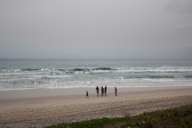 Not many waves greeted me this morning..
