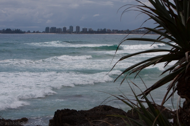 Some waves around but the light easterly is ruffling the feathers....