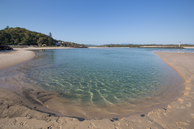 Perfect little swimming hole at low tide.