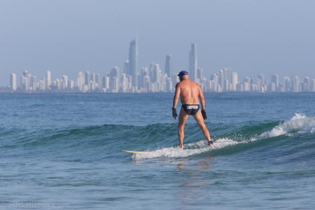 This Aussie got loads of waves...