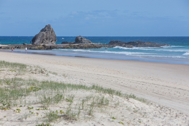 Empty beaches.