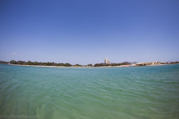 The estuary.