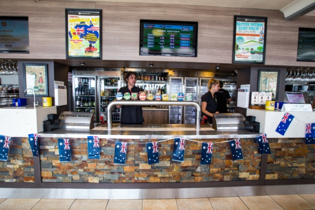 The bar at the slsc