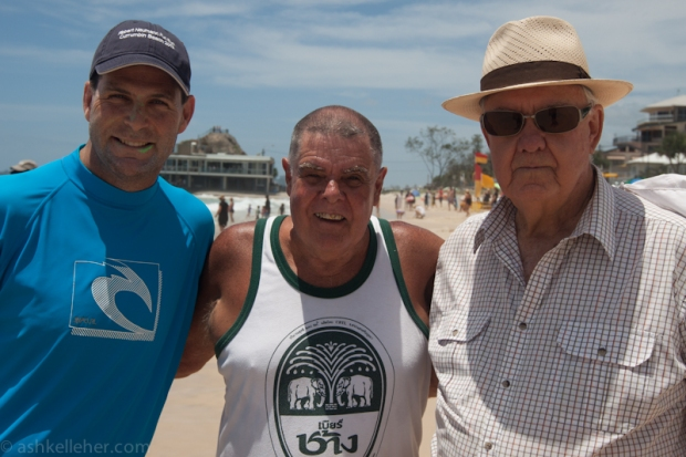 The President of the SLSC, my Dad and The brother.