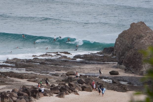 Some very fun waves about today.. Cory dodging the crowd.