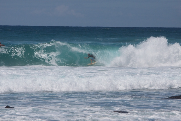 Clint getting barrelled into the Semi's.
