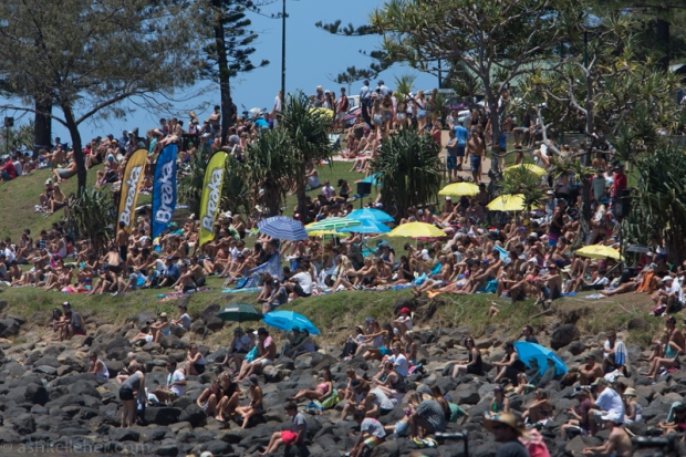 The crowd at Burleigh.