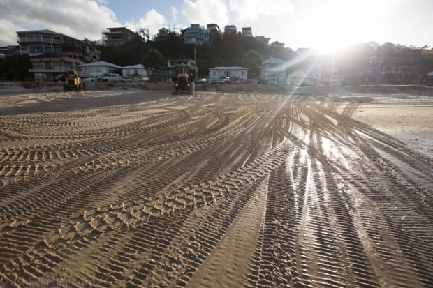 Beach tracks.