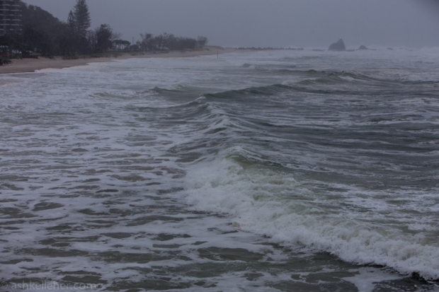 A very nasty rip has formed just up from the SLSC. It is a super strong one so don't go near it!