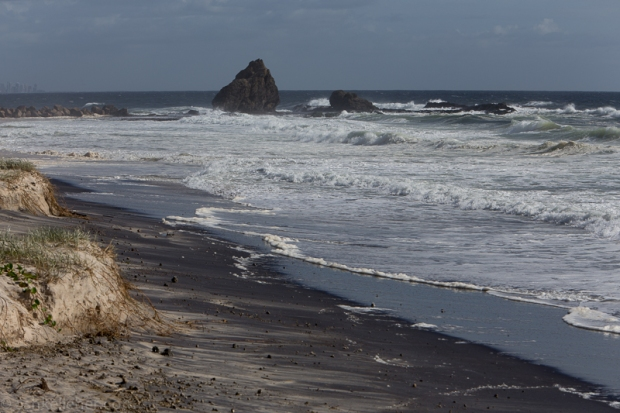 The black sand and erosion..