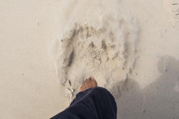 Fine sand here in Currumbin.