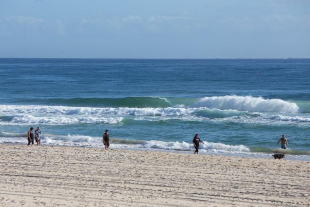 Beach walkers.