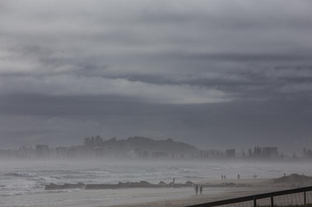 Really misty.