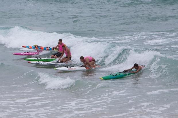 Rain hail or pumping surf...