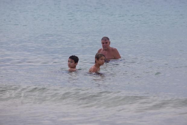 First swim.