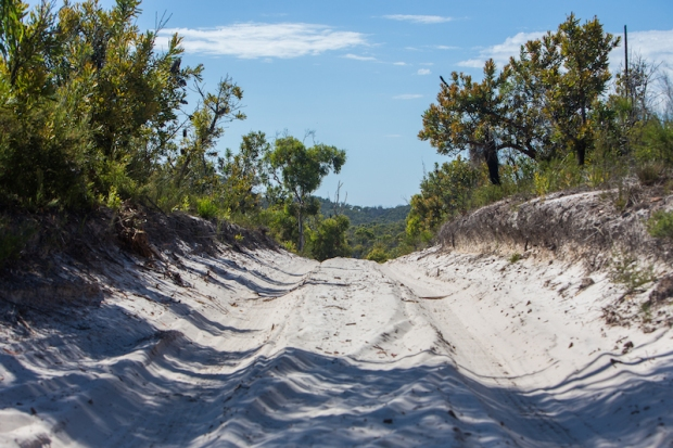 Deep sand.
